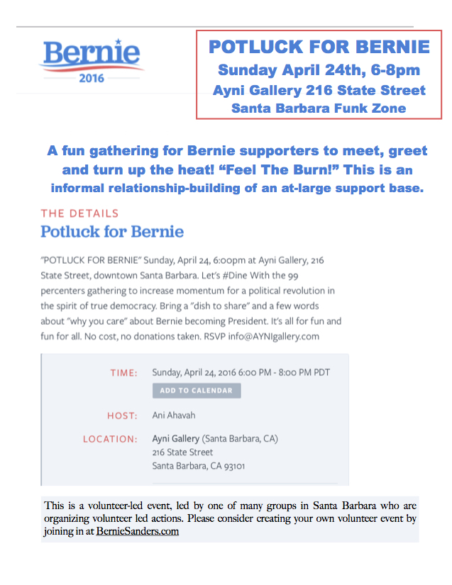 30 - 103384 - Potluck and Housing for Sanders Campaign -
