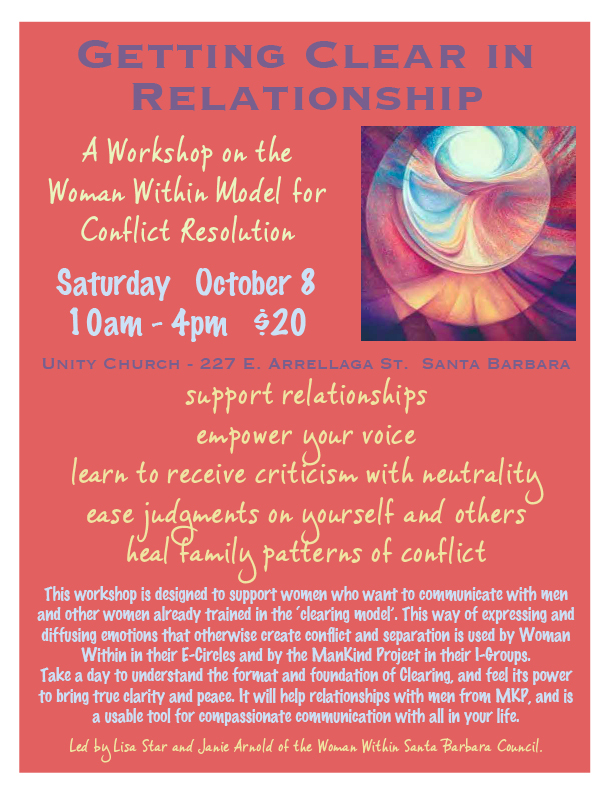 14 - 102640 - Woman Within Clearing Workshop 10/8 -